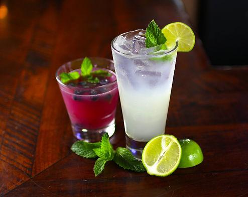 Blueberry Martini Mojito & Key Lime Mojito photographed
