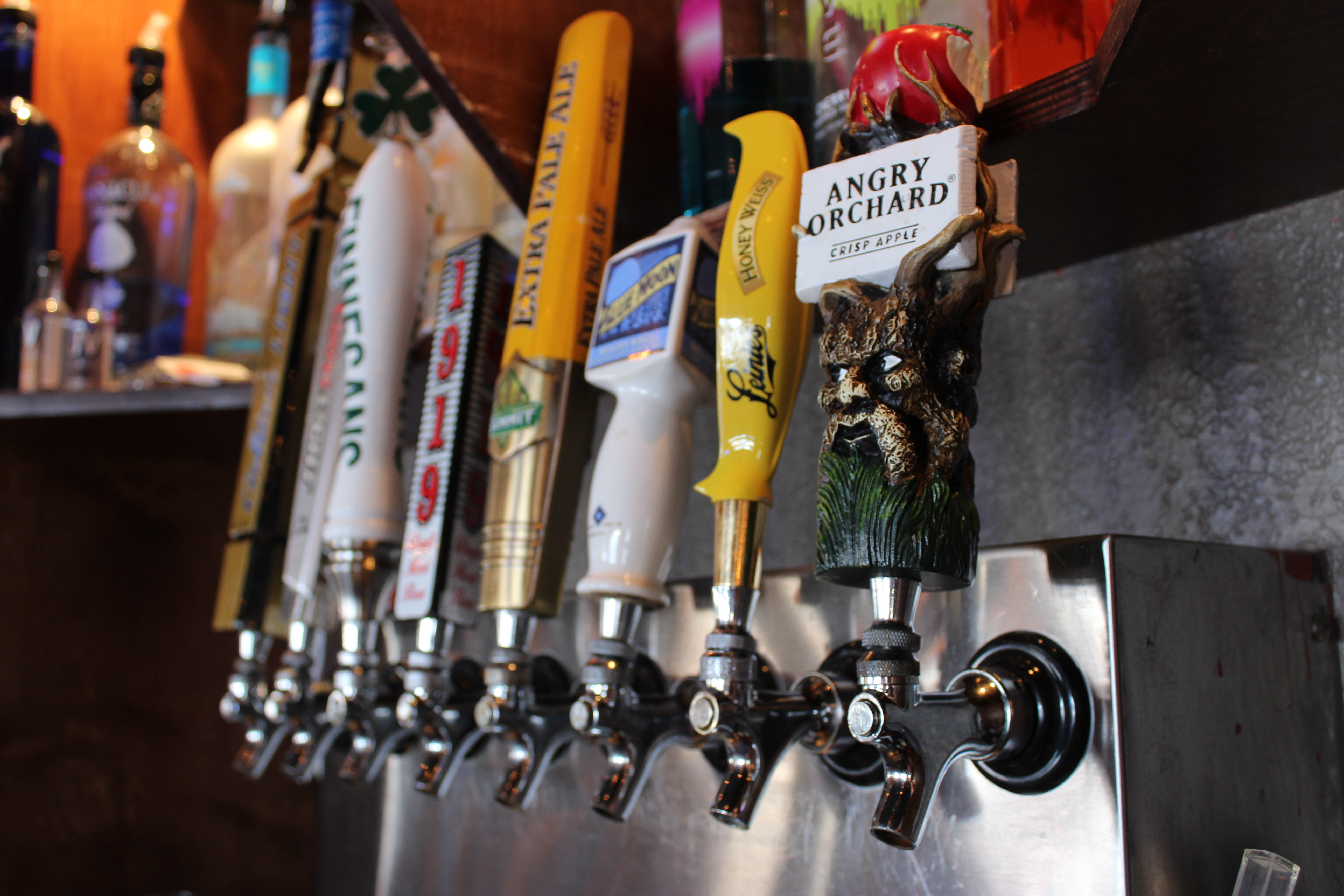 Our selection of draft beers we include.