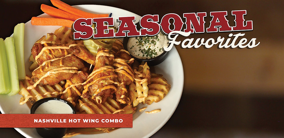 Seasonal Favorite: Nashville Hot Wing Combo.