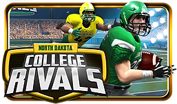 North Dakota College Rivals Logo for an electronic pull tab game