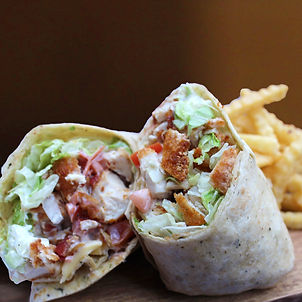 Tuesday Specials. Pictured is our Chicken Bacon Ranch Wrap