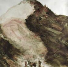 le sacrifice d'Abraham, la montagne, 100x125, 2017.jpg