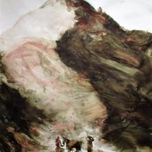 le sacrifice d'Abraham, la montagne, perso100x125, 2017.jpg