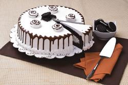 Torta de helado con chocolate