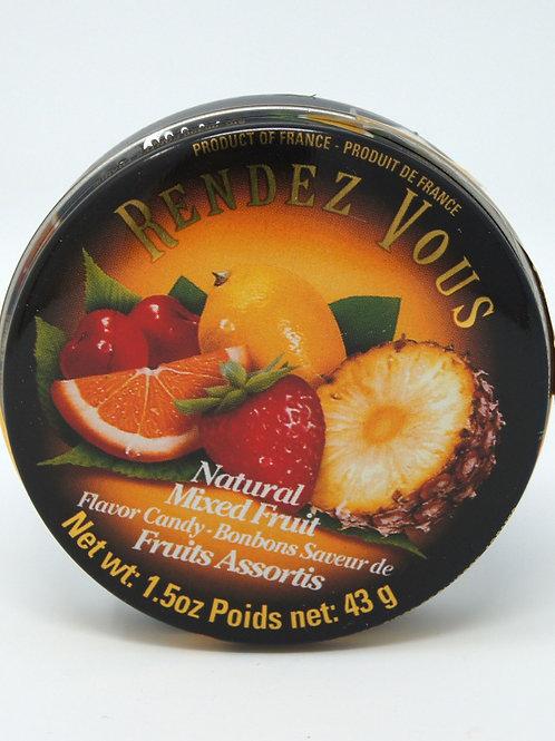 MIXED FRUIT HARD CANDIES IN TIN