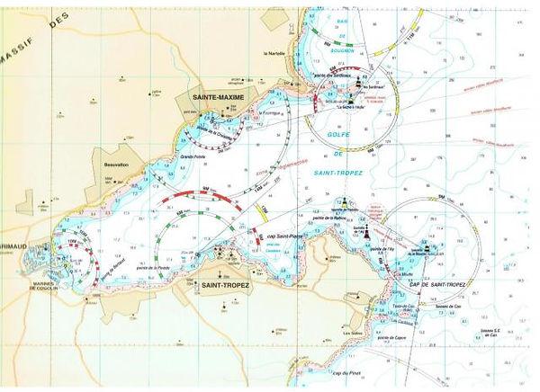carte marine permis bateau st tropez