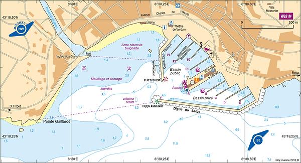 carte marine permis bateau sainte maxime