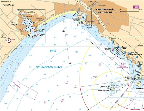 carte marine permis bateau frejus st raphael