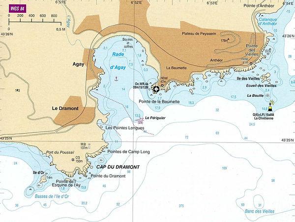 carte marine permis bateau st raphael agay