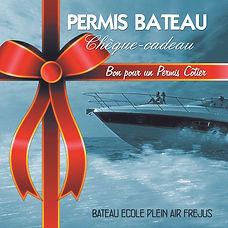 carte cadeau permis bateau cotier frejus