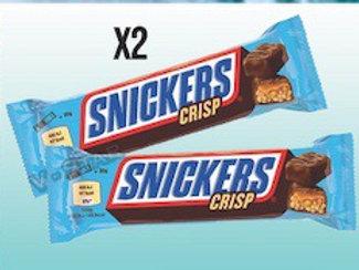 Snickers crisp x2