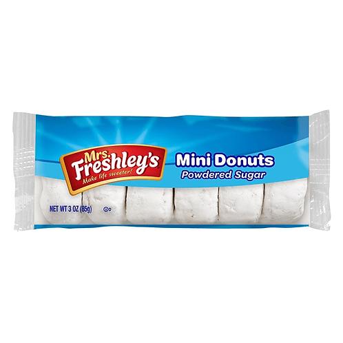 Mrs. Freshley's Mini Donuts Powdered Sugar