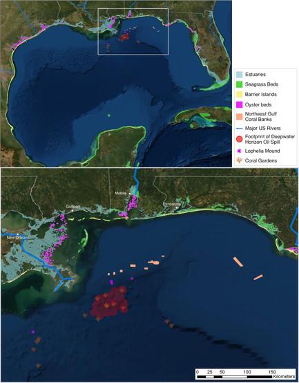 Map of Gulf Coast