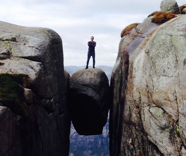 Producer Kalen Eriksson at Kerag while on a location scout in Norway