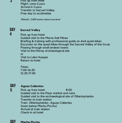 Sample Itinerary Peru Social Travel