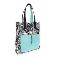 Palm Tree Printed Reversable Tote