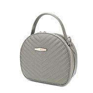 Round quilted mini satchel