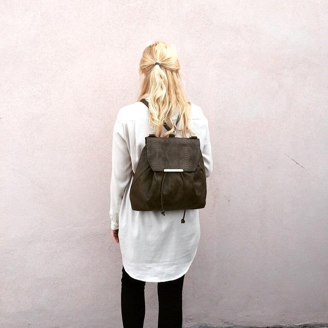 Faux Snake Skin Backpack/ShoulderBag