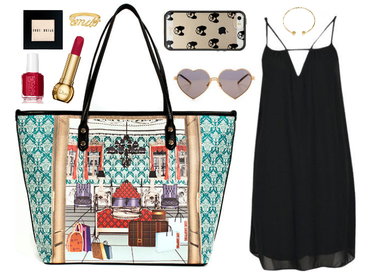 French Print Travel Tote