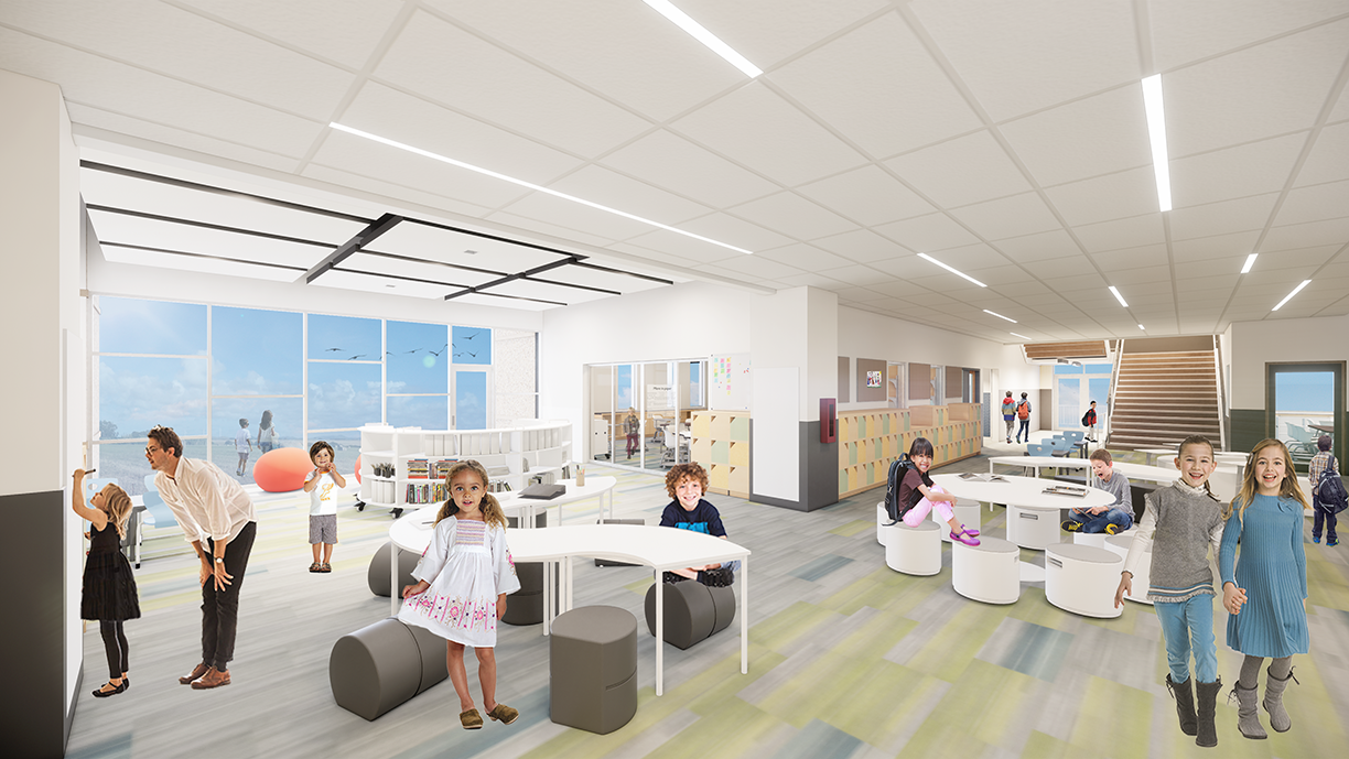 South Clearfield Elementary School Learning Commons Conceptual Rendering - Clearfield, UT