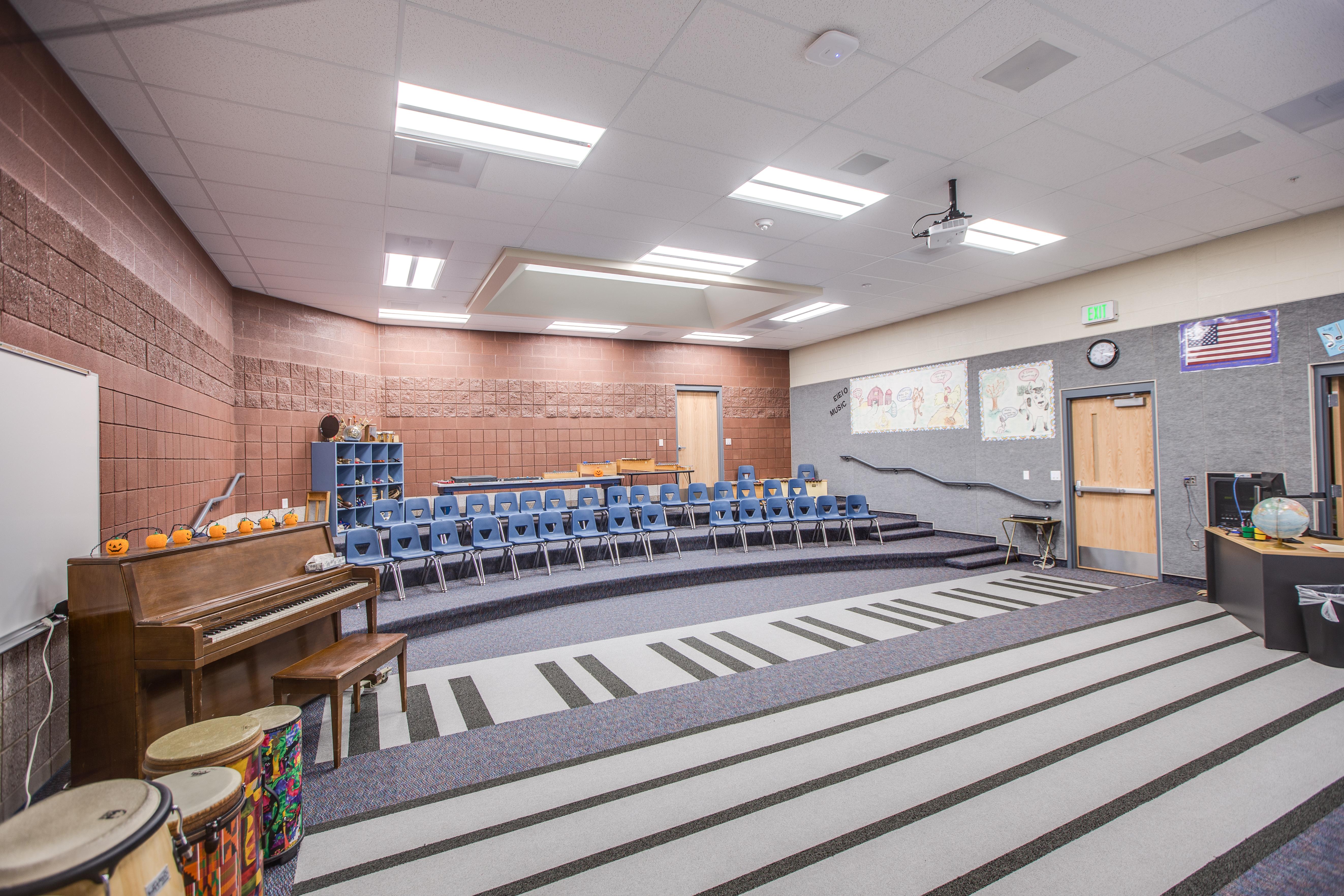 Lewiston Elementary School Music Room - Lewiston, UT