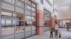 Ellis Elementary School Gym Corridor Conceptual Rendering - Logan, UT