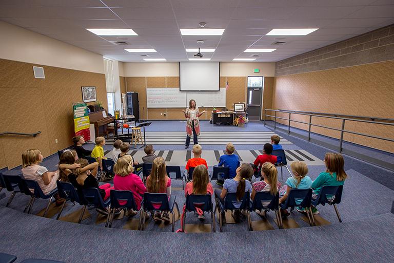 Providence Elementary School Music Room - Providence, UT