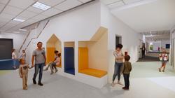 Ellis Elementary School Corridor Conceptual Rendering - Logan, UT