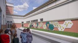 Ellis Elementary School Outdoor Learning Area Conceptual Rendering - Logan, UT