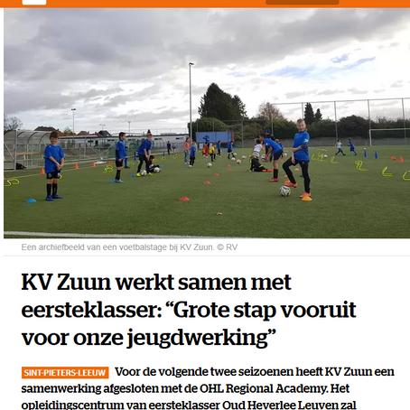 KV Zuun start samenwerking met OHL