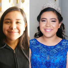 #transformationtuesday _Isn't she just GORGEOUS!!✨_HAIR - MAKEUP - MORALESGAL_☎ 972-352-8427 ☎_#makeup #hair #quinceañera #my15 #photosessio