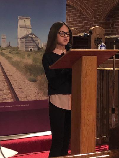Anya Shyian - 2018 Heritage Fair award winner from White City