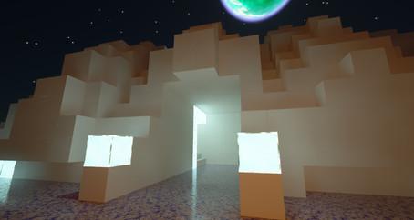 Organic looking Sci-fi house