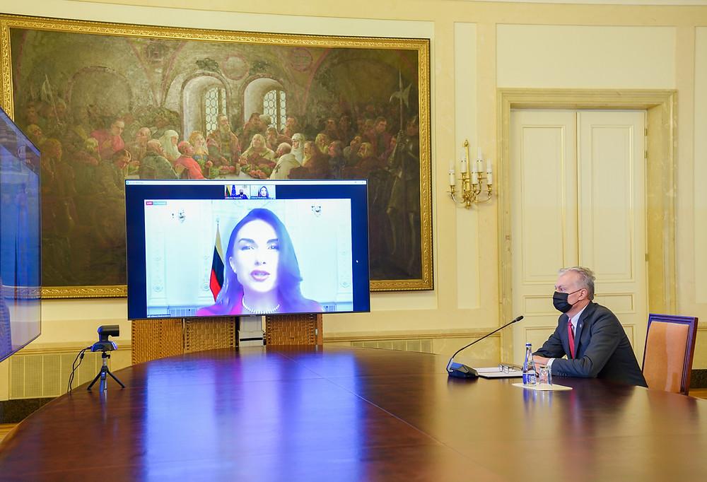 Lietuvos Respublikos prezidento kanceliarijos nuotraukos / Robertas Dačkus