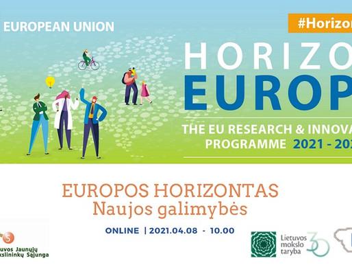 EUROPOS HORIZONTAS. Naujos galimybės