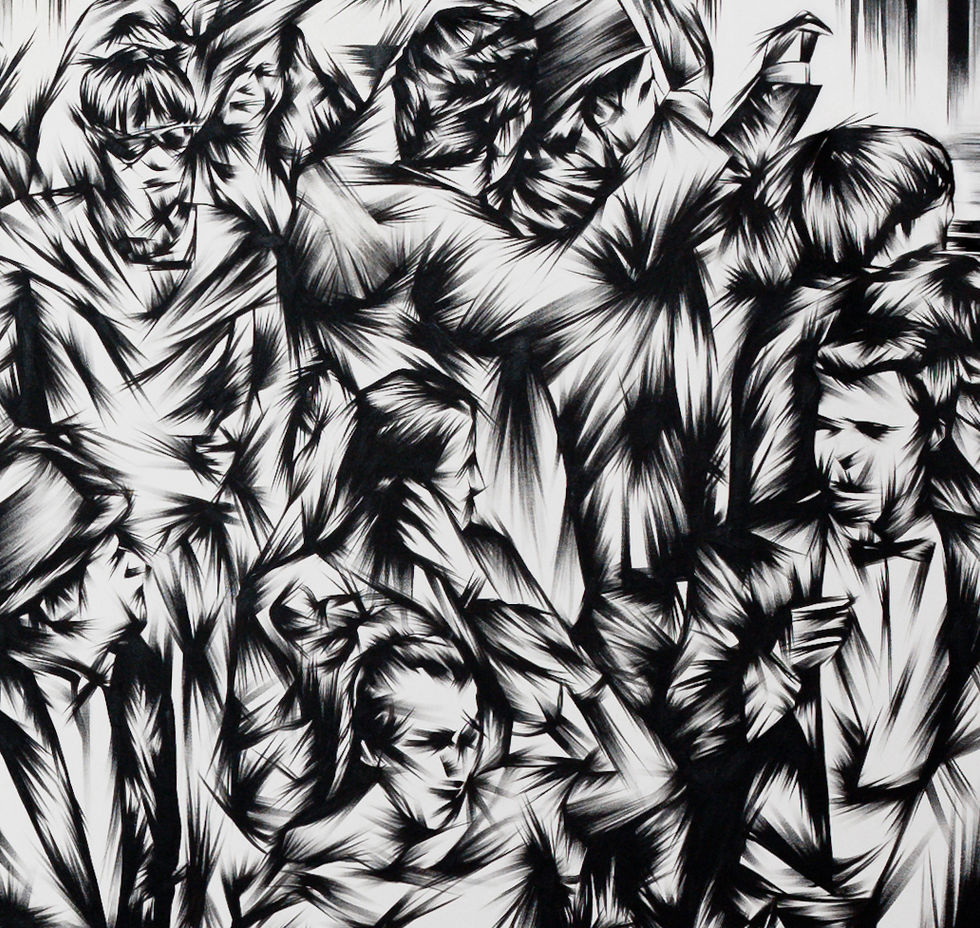In The Crowd #3 - detail