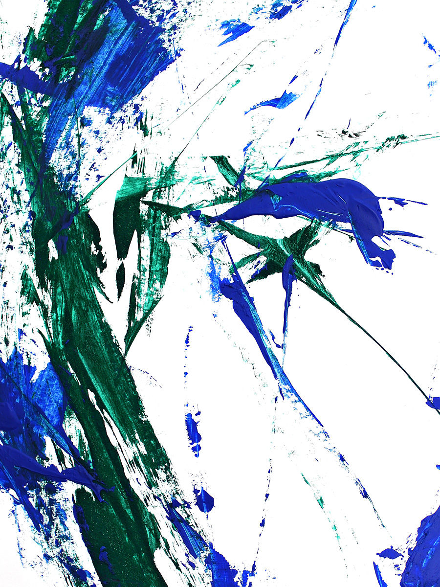 Portrait of a Blue Man - detail