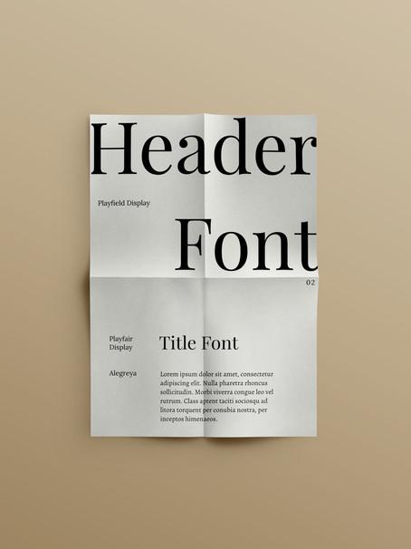 4 Free Minimal Font Pairings