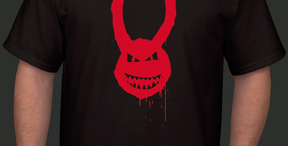 Unisex Long Horned Devil Graffiti T-Shirt