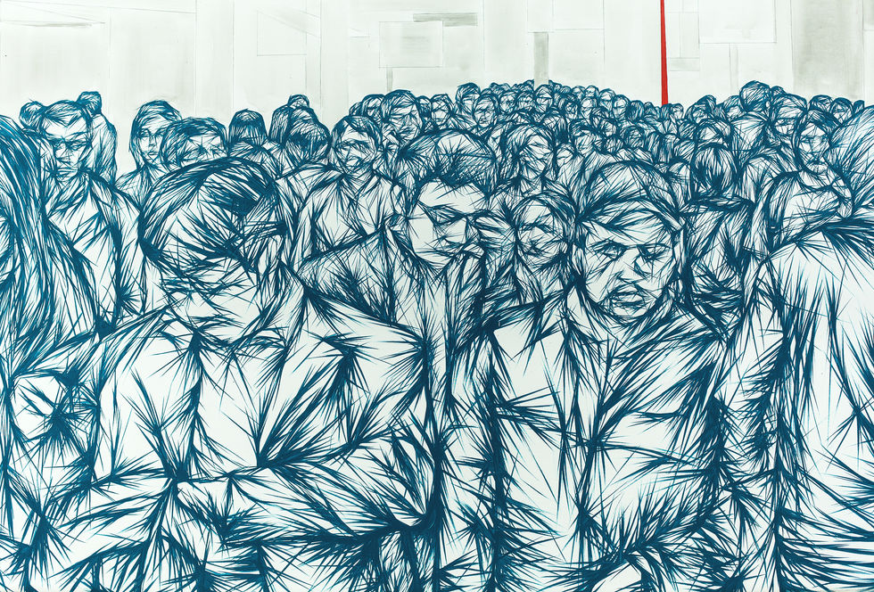 In The Crowd #6 - detail