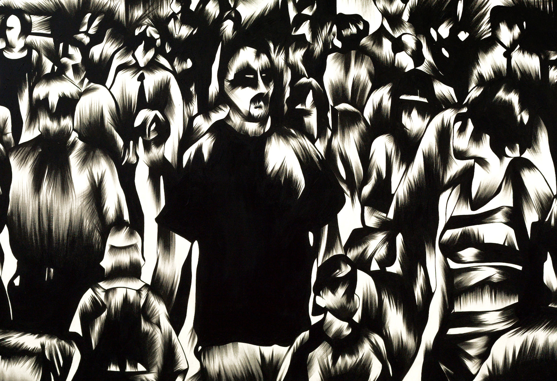 In The Crowd #1 - detail