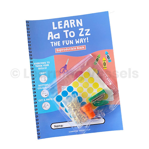 learn a to z activity book set