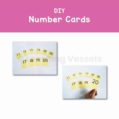 DIY Number Cards Singapore