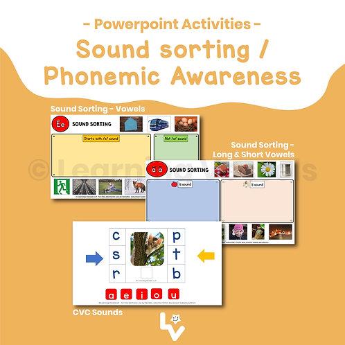 Sound sorting/Phonemic Awareness Bundle