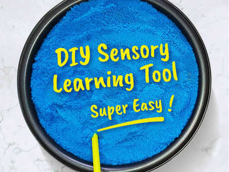 Make your own Sensory Learning Tool for Early Literacy!