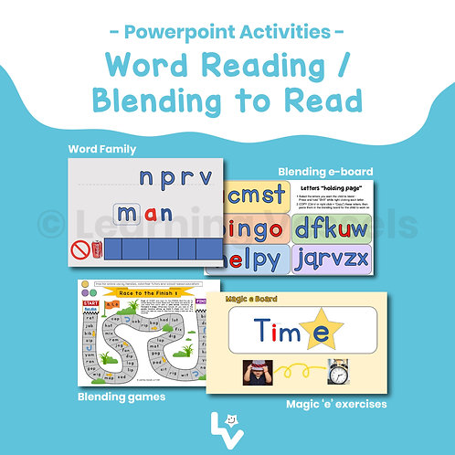Word Reading/Blending to Read Bundle
