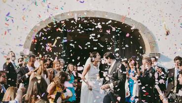 wedding video confetti