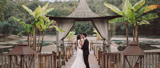 hawaiian wedding feel