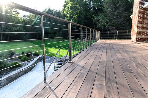 """COMPLETE 36"""" High Cable Railing Infill Kits For Metal Posts"""