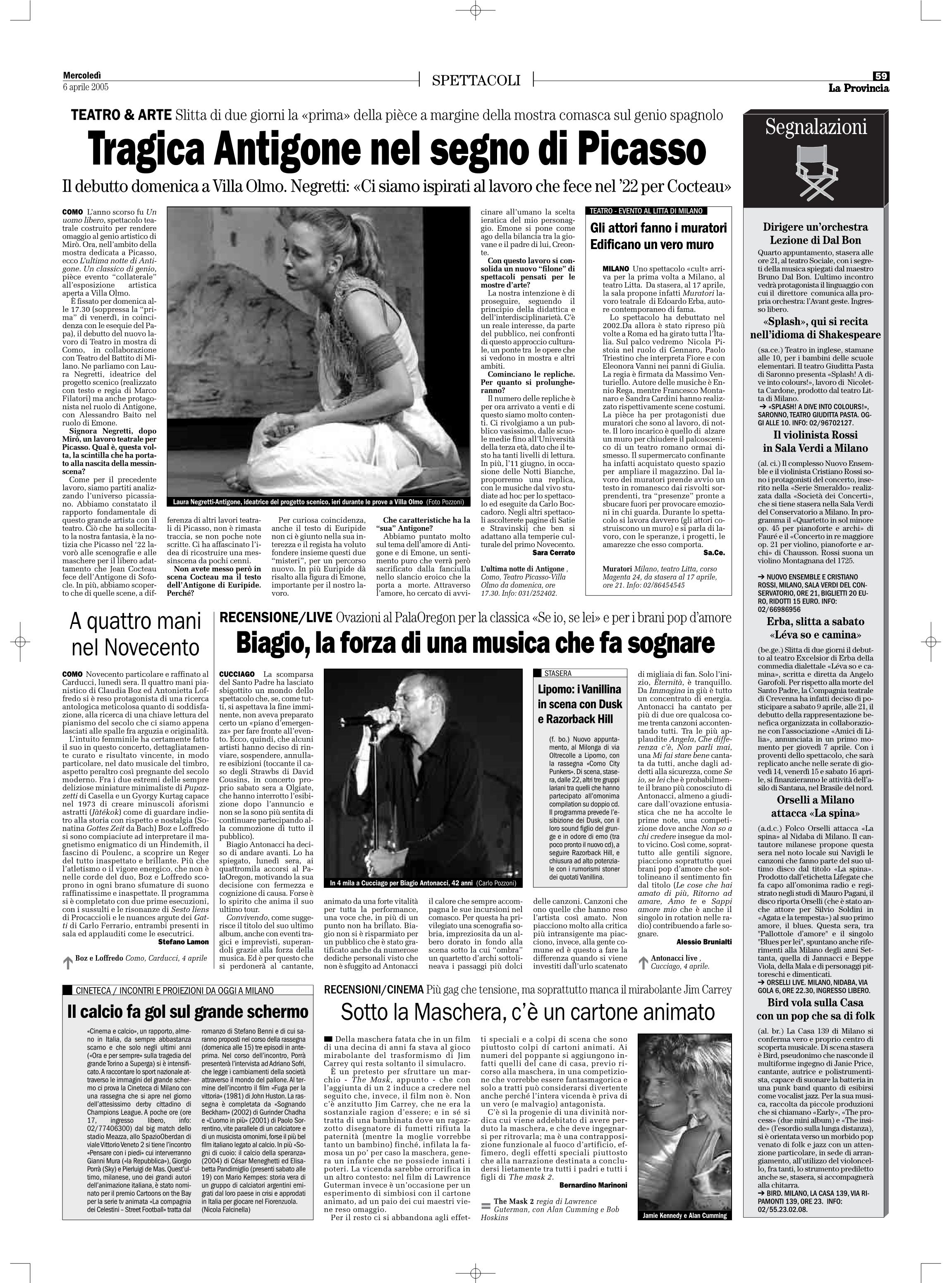 La Provincia 6 aprile 2005